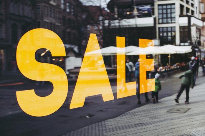 cartel de ventas