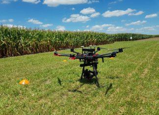 drone en campo