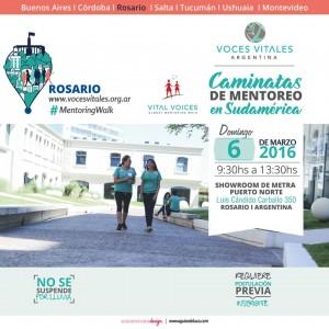 Caminata de mentoreo rosario 2016