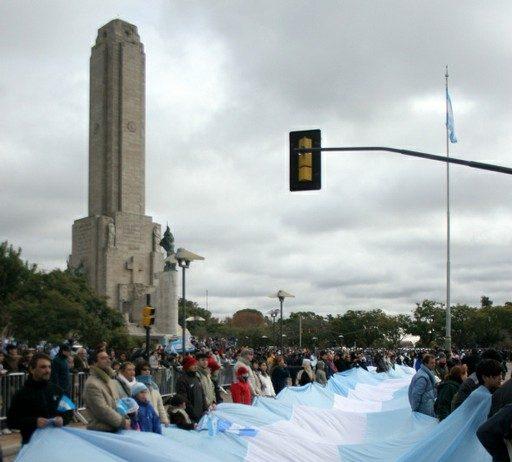 Día de la bandera bandera mas larga