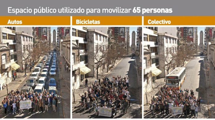 Espacio publico urbano bicicletas foto